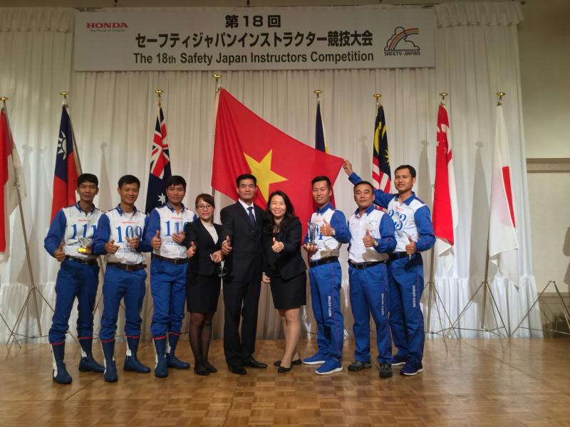 Honda Việt Nam giành vị trí thứ hai toàn đoàn