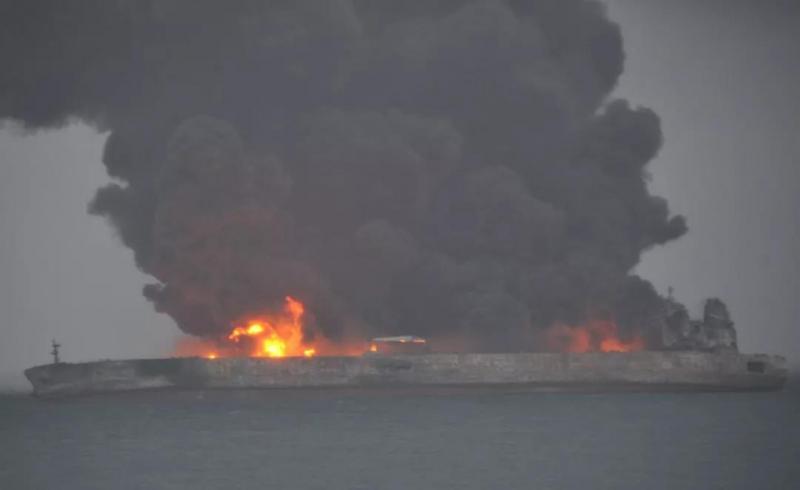 cháy tàu chở dầu TQ