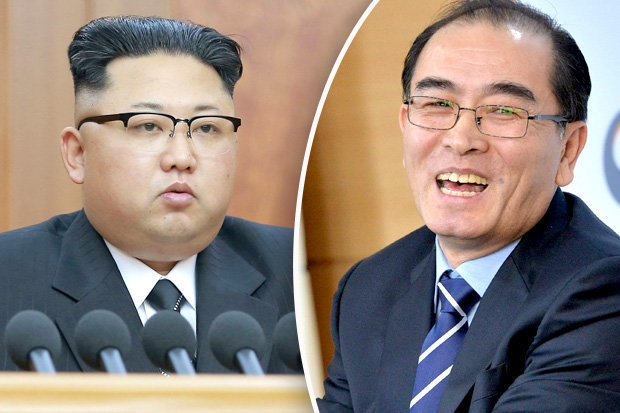 KIm-Jong-un-and-North-Korean-defector-Thae-Yong-Ho