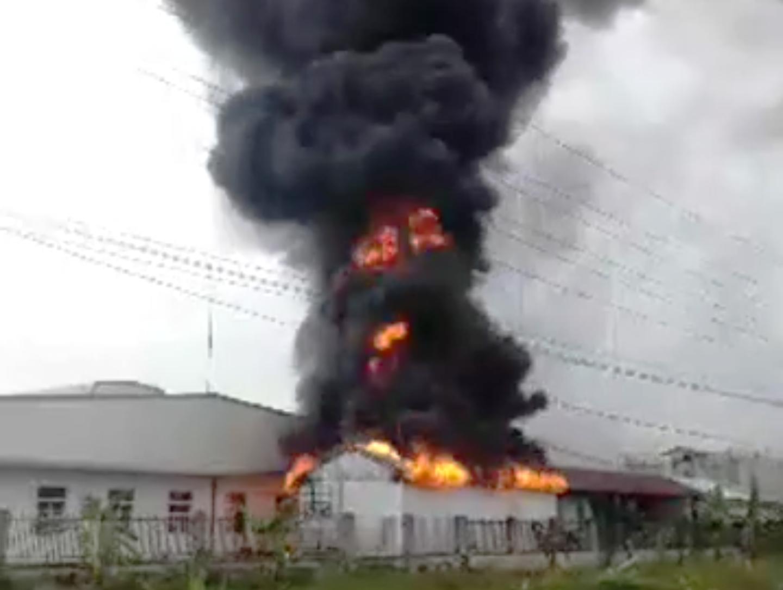 cháy KCN Tân Liên