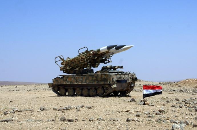Tên lửa phòng không Buk của Syria do Nga cung cấp