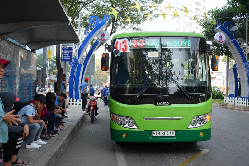 Năm qua TP đã thay nhiều xe buýt mới, chất lượng