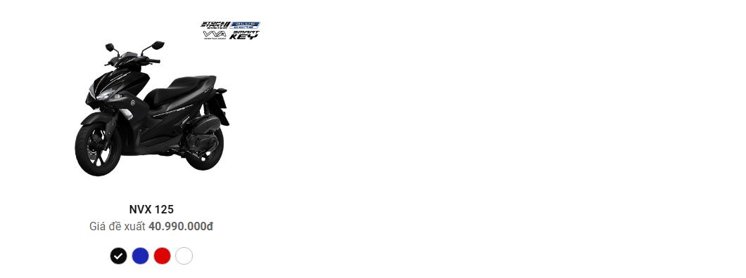 Bảng giá mua xe tay ga nam nữ, xe Acruzo, NVX 155