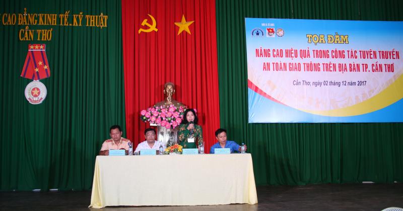 Bà Trần Thị Xuân- Phó Trưởng Ban an toàn giao thôn