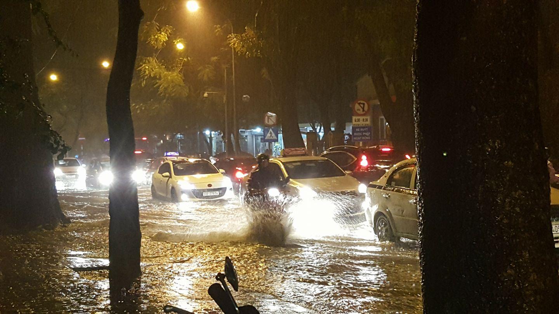Hà Nội: Cây đổ, phố thành sông sau cơn mưa lớn