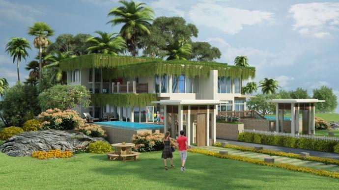 Mẫu biệt thự trên đồi - song lập tại Premier Villa