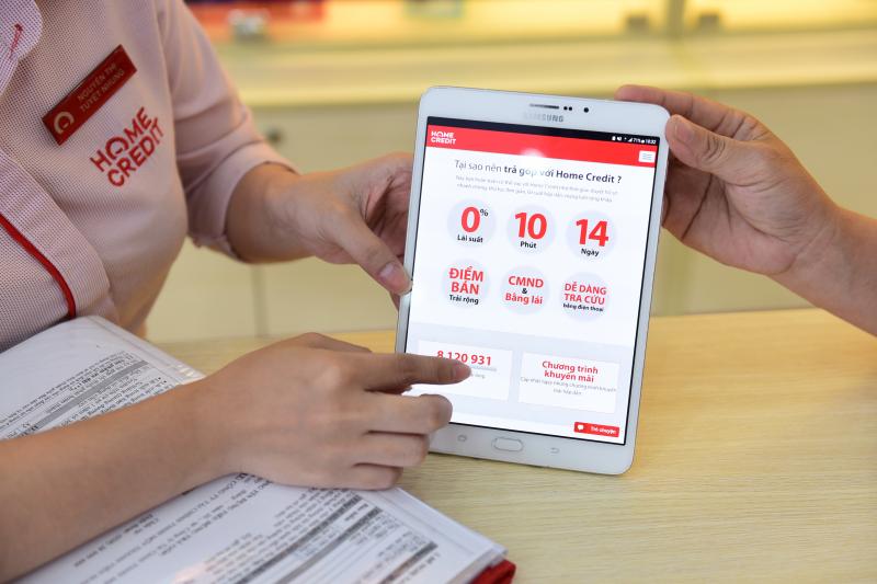 2. Nhân viên Home Credit giới thiệu các dịch vụ đế