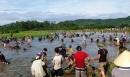 Hàng ngàn người đi vớt lộc trời ở Đầm Vực
