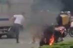 Nghi án thanh niên châm lửa tự thiêu, đốt xe giữa phố Đồng Nai