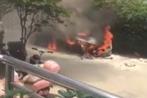 Video: BMW gần 2 tỷ cháy thành tro sau... lễ cúng xe mới