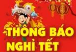Lịch nghỉ Tết Dương lịch 2017 chính thức