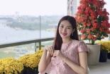 Hoa hậu Thu Thảo lộ ảnh bụng bầu ngày Tết