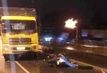 Chạy lấn làn trên cầu vượt Amata, 2 thanh niên bị tông tử vong