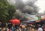 Bộ Công an vào cuộc vụ cháy kho hàng gần chợ Vinh