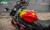 Siêu môtô lên tem quốc kỳ, chuẩn bị cổ vũ U23 Việt Nam