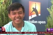 Lý Hoàng Nam trả lời phỏng vấn sau khi giành chức vô địch Wimbledon