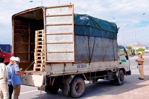 Hải Phòng: CSGT phối hợp đăng kiểm loại bỏ xe quá khổ