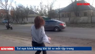 Tai nạn kinh hoàng do tài xế mải nhìn cô gái múa ven đường?