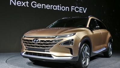 Hyundai giới thiệu mẫu SUV mới sử dụng nhiên liệu sạch