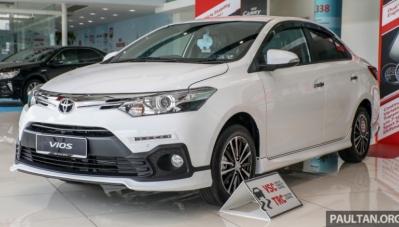 Toyota Vios 2018 chốt giá tại Malaysia, từ 435 triệu đồng