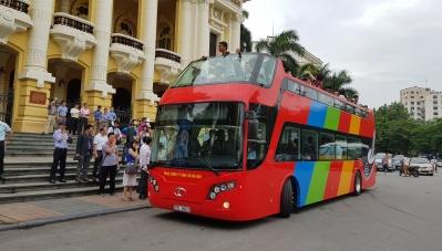 Xe buýt 2 tầng tại Hà Nội có gì đặc biệt?