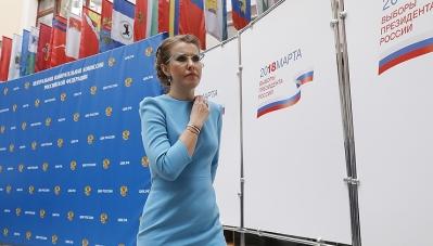 Ứng viên Sobchak thừa nhận chiến thắng áp đảo của ông Putin