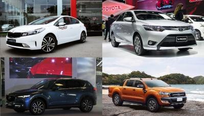 Bảng giá những mẫu xe bán chạy nhất Việt Nam năm 2017