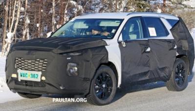SUV cỡ lớn mới của Hyundai lộ diện, chạy trên đường thử