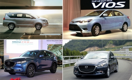 Top 5 ô tô bán chạy nhất kể từ đầu năm 2018