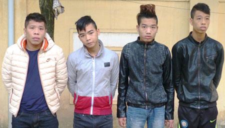 Bốn đối tượng bị tạm giữ