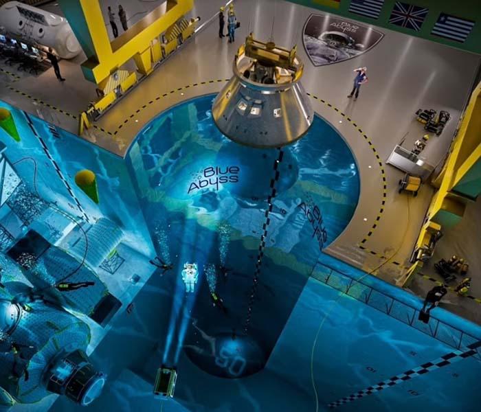 Hồ bơi sâu nhất thế giới sử dụng để đào tạo phi hành gia, thử nghiệm robot 1