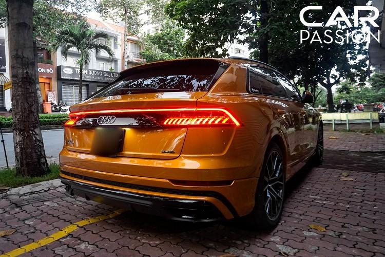 """Về kích thước, Audi Q8 sở hữu số đo """"ba vòng' chiều dài x rộng x cao lần lượt là 4.990 x 2.000 x 1.710 mm"""