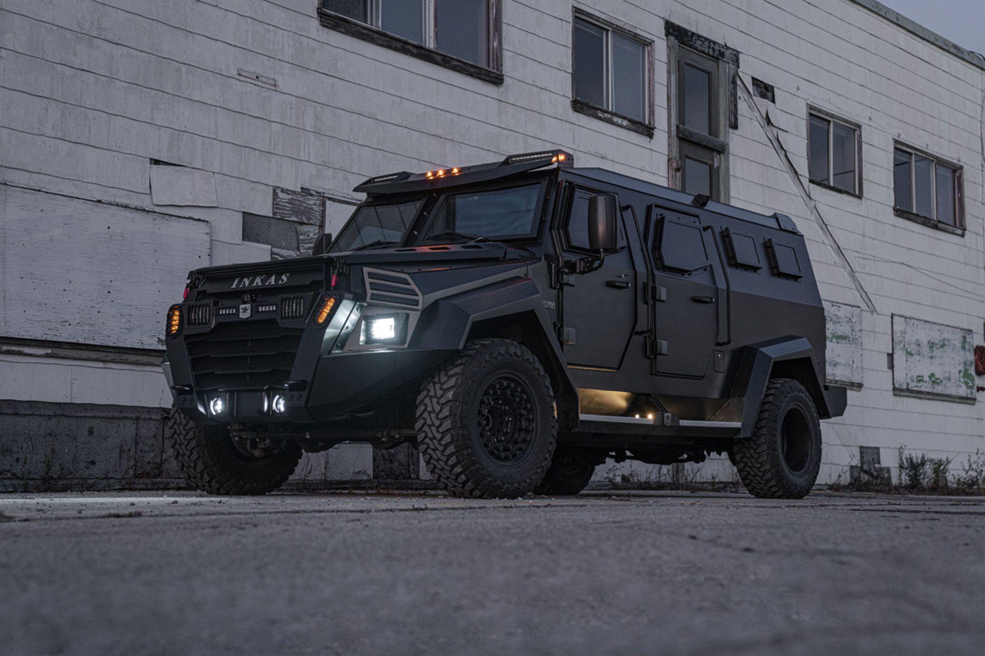 Inkas Sentry Civilian dùng cơ sở gầm bệ của mẫu Ford F-550, với hệ thống treo được nâng cấp đáng kể, cùng hệ thống phanh hiệu suất cao và nhiều gia cố kỹ thuật khác