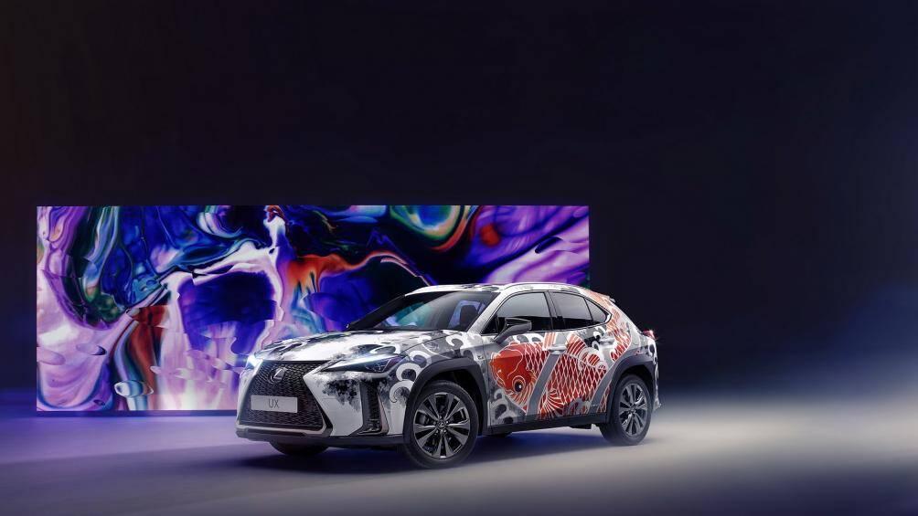Lexus UX 2020 đã trở thành mẫu xe ô tô xăm hình đầu tiên trên thế giới