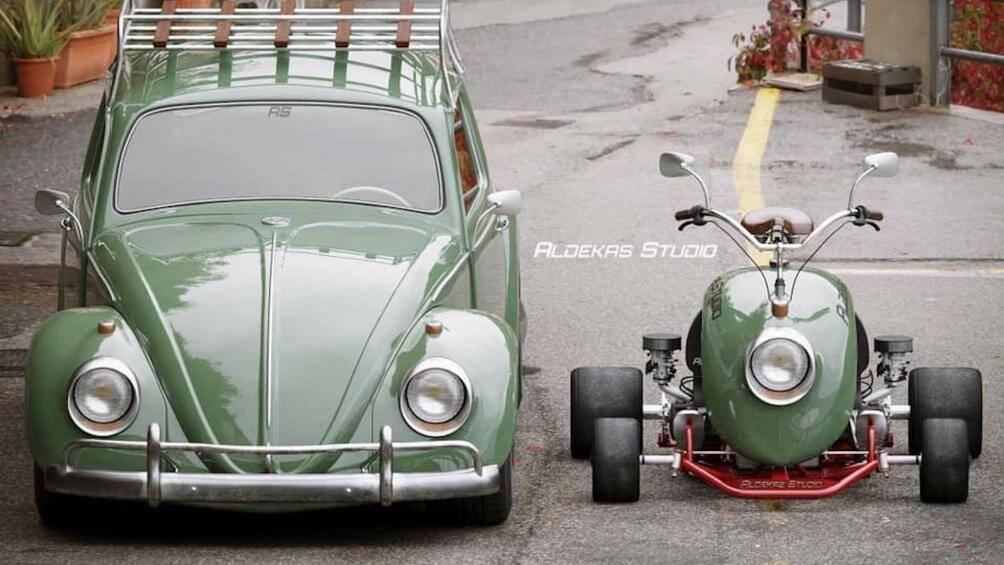 Mẫu xe huyền thoại Volkswagen Beetle đã truyền cảm hứng tới nhiều mẫu xe độ khác, từ những chiếc xe đạp cho với xe gắn máy