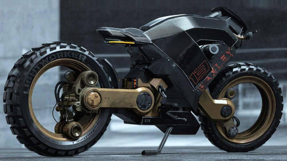 1. Mẫu mô tô Baxley Moto có thiết kế không trục, mang phong cách xe đường phố, đậm chất tương lai
