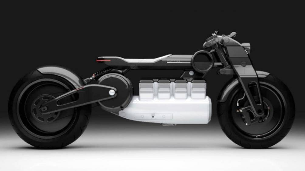 4. Dòng xe điện Hera của Curtiss Motorcycles với 8 thỏi pin, động cơ điện E-twin đặt dưới yên ngồi nhìn cực mạnh