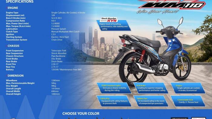 Xe máy số WMoto WM110 ra mắt, giá chỉ 17,9 triệu đồng 6