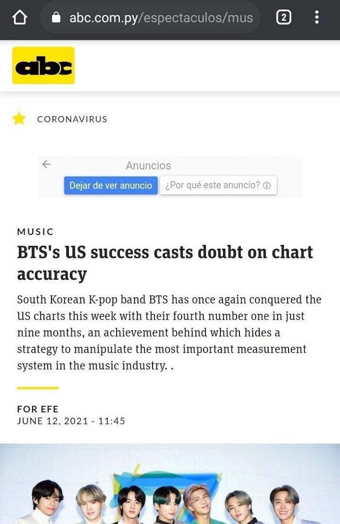 Fan phẫn nộ vì bài báo vu BTS thao túng bảng xếp hạng 2