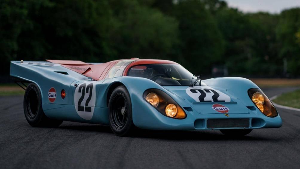 """Chiếc Porsche 917K này từng được nam diễn viên người Mỹ Steve McQuee sử dụng trong bộ phim """"Le Mans"""" và hiện đang được bán đấu giá"""