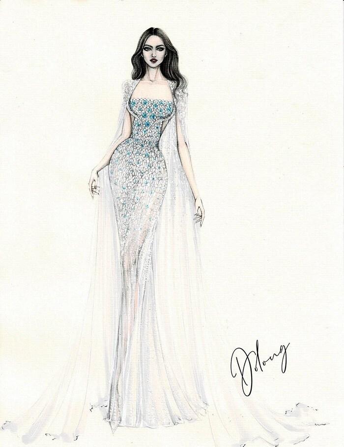 5 thiết kế đầm dạ hội cho Đỗ Thị Hà tại Miss World, dễ khoe chân dài 1