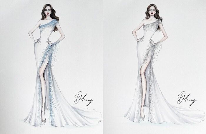 5 thiết kế đầm dạ hội cho Đỗ Thị Hà tại Miss World, dễ khoe chân dài 2