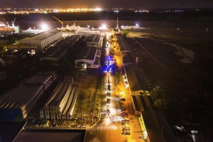 Hành trình đoàn xe siêu trường siêu trọng đưa điện gió lên Tây Nguyên 2