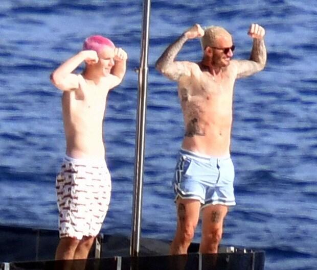 Bố con David Beckham bị cảnh sát Italia