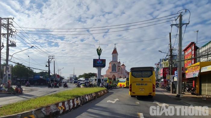 Vòng xoay trung tâm TP Ngã Bảy, tỉnh Hậu Giang.