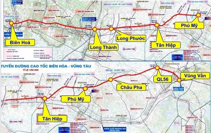 Phác thảo hình hài cao tốc Biên Hòa - Vũng Tàu 2